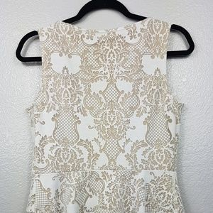 Apt. 9 Tops - Blouse White with tan underlay.